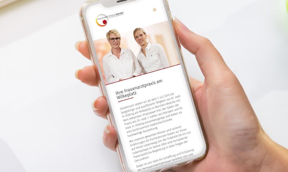 Frauenarztpraxis Warstein Website