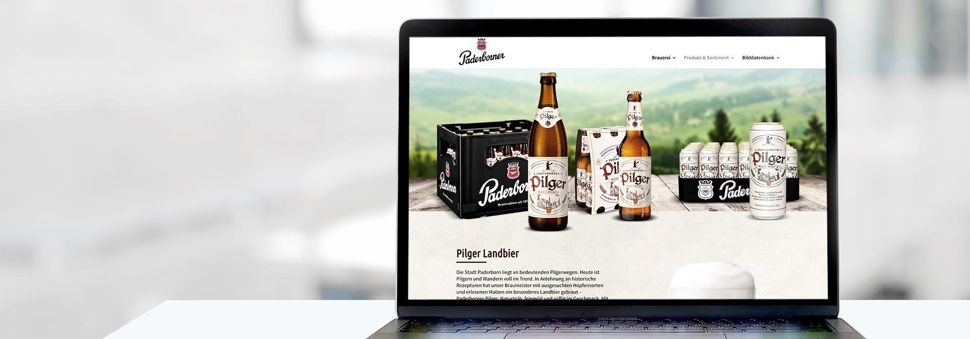 Website Paderborner Brauerei
