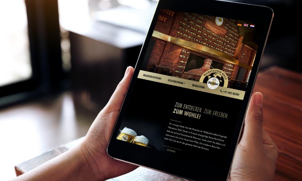 Warsteiner Welt Website