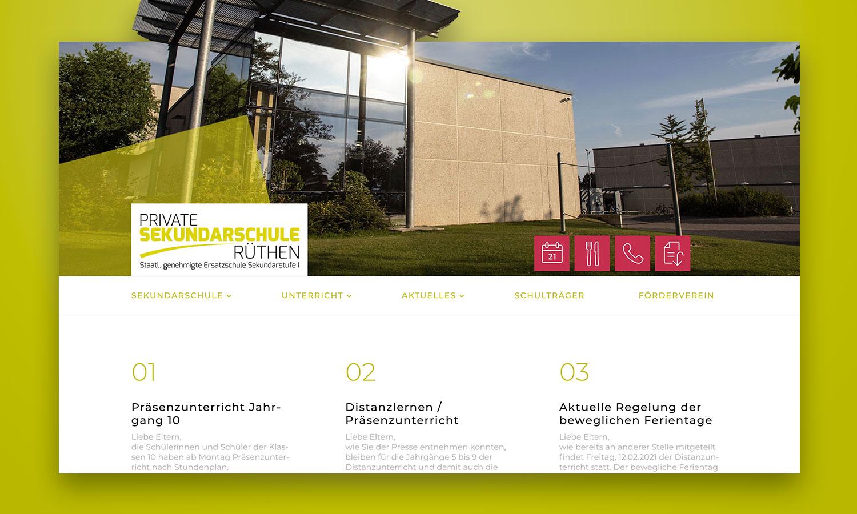 Website | Sekundarschule Rüthen