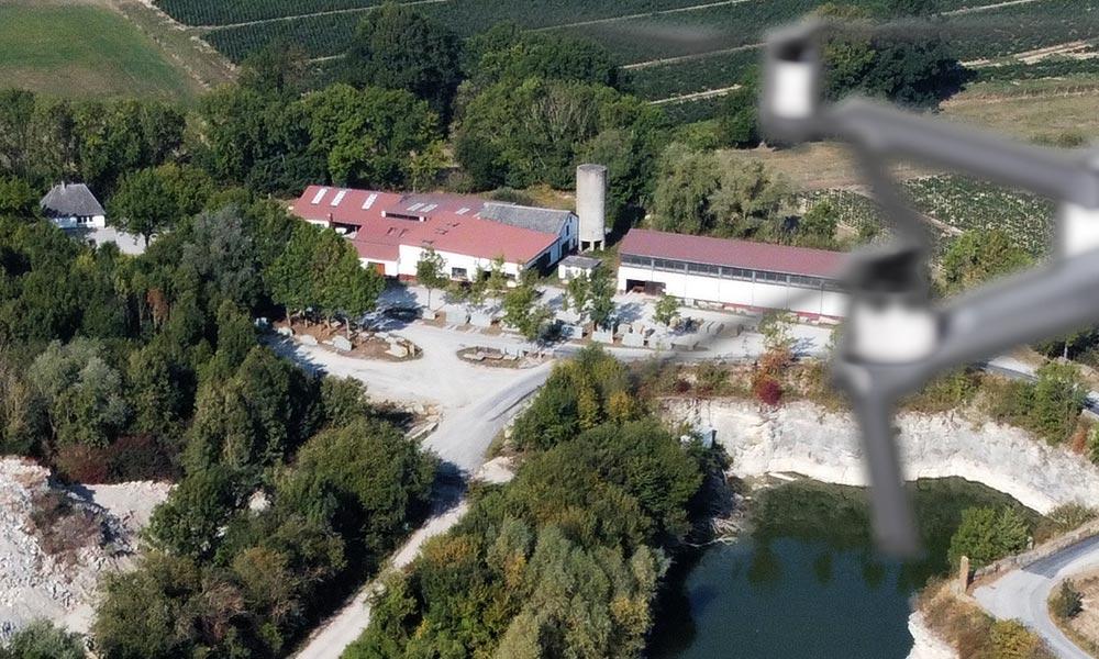 Anröchter Naturstein Drohnenflug
