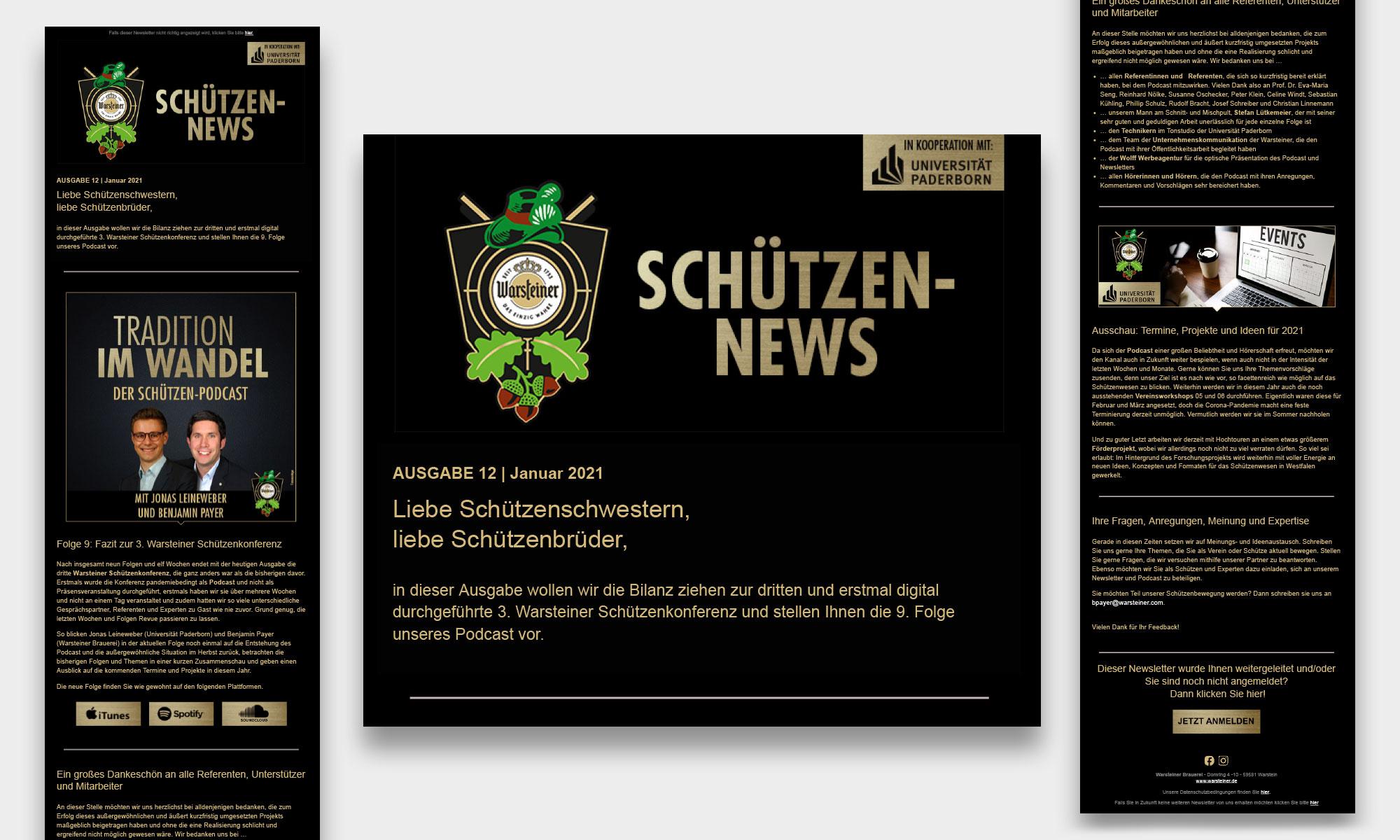Newsletter Schützen Warsteiner